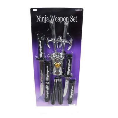 Набор оружия Shantou Gepai Ниндзя, нунчаки, меч, кинжал, сай 2шт., защита на руку