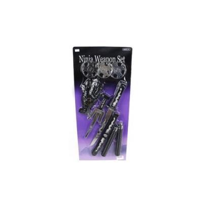 Набор оружия Shantou Gepai Ниндзя, нунчаки, кинжал, сай, защита на руку, звезды нинзя 3шт.