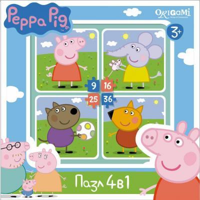 Пазл ОРИГАМИ Peppa Pig На прогулке 01598 пазл 4 в 1 peppa pig транспорт 01597