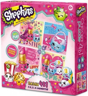 Пазл ОРИГАМИ Shopkins Beauty 9-16-25-36 элементов