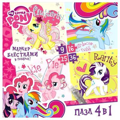 Пазл ОРИГАМИ My Little Pony 9-16-25-36 элементов