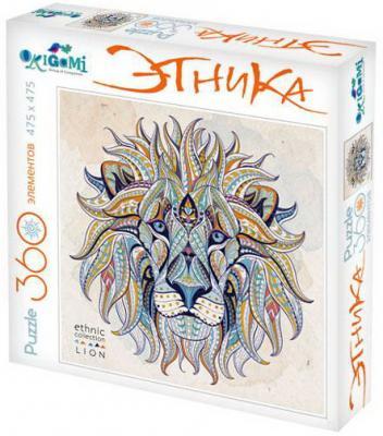 Пазл ОРИГАМИ Арт-терапия Лев 360 элементов пазл для раскрашивания арт терапия царь зверей origami 360 деталей