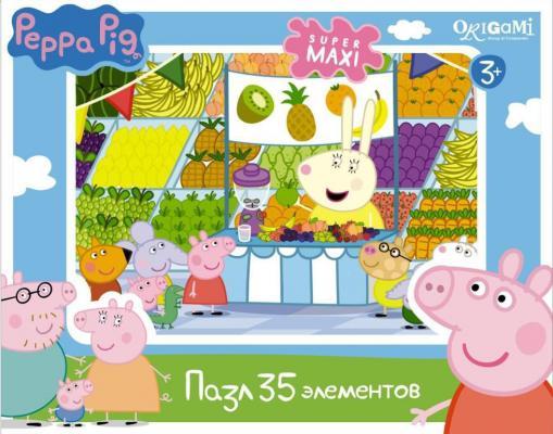 Пазл ОРИГАМИ «Peppa Pig» Магазин фруктов 01547 35 элементов peppa pig пазл супер макси 24a контурный магниты подставки семья кроликов