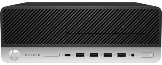 Системный блок HP ProDesk 600 G3 i5-7500 3.4GHz 4Gb 256Gb SSD HD 630 DVD-RW Win10Pro клавиатура мышь серебристо-черный 1HK39EA