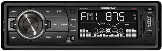 Автомагнитола Soundmax SM-CCR3075F USB MP3 FM SD MMC 1DIN 4x45Вт черный