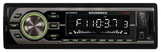 Автомагнитола Soundmax SM-CCR3074F USB MP3 FM SD 1DIN 4x45Вт черный