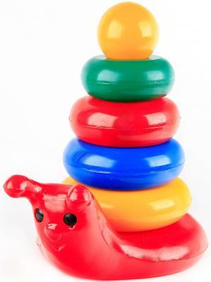 Купить Пирамида Строим вместе Улитка 26 см 6 элементов 5044, пластик, Пирамидки для малышей