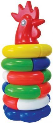Пирамида Игрушкин Петушок 26 см 7 элементов 91008 развивающие игрушки игрушкин пирамида зайка 24 см
