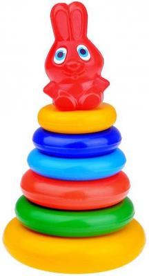 Пирамида Игрушкин Зайка 24 см 7 элементов 91023 развивающие игрушки игрушкин пирамида зайка 24 см