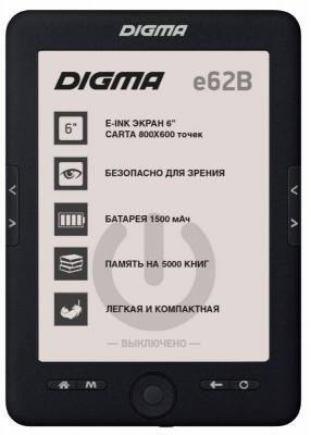 "Электронная книга Digma E62B 6"" E-Ink 4Gb черный"