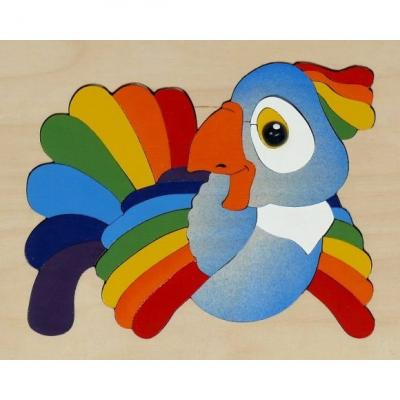 Мозайка-вкладыш Крона Попугай 29 деталей деревянная крона веселые подружки крона