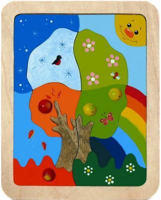 Мозайка-вкладыш Крона Времена года 13 деталей мозайка вкладыш крона попугай 29 деталей деревянная 143 017