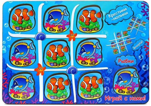 Настольная игра ТИМБЕРГРУПП Крестики-нолики Крестики-нолики из дерева Водный мир от 123.ru