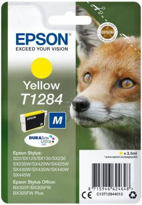Картридж Epson C13T12844012 для Epson S22/SX125 желтый original cc03main mainboard main board for epson l455 l550 l551 l555 l558 wf 2520 wf 2530 printer formatter