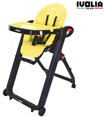 Стульчик для кормпления Ivolia Love (4 колеса/yellow)