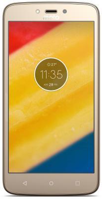 Смартфон Motorola Moto C Plus золотистый 5 16 Гб LTE Wi-Fi GPS 3G XT1723  PA800003RU смартфон meizu m5 note серебристый 5 5 32 гб lte wi fi gps 3g