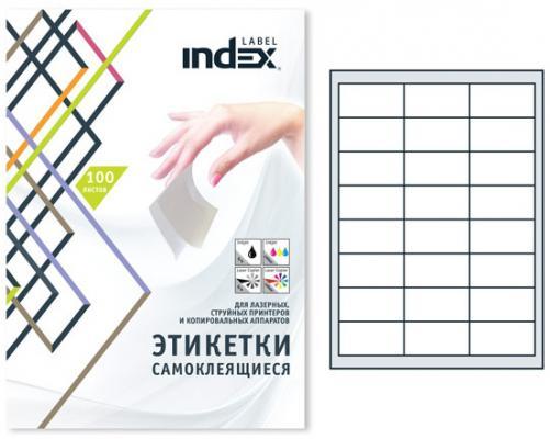 Самоклеящиеся этикетки Index 100 листов 64,6x33,8 мм белый IL6433 от 123.ru