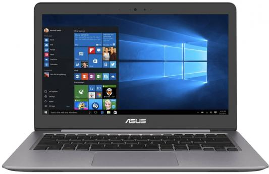Ноутбук Asus Zenbook UX310UQ-FC518T Core i3 7100U/4Gb/SSD128Gb/nVidia GeForce 940MX/13/FHD (1920x1080)/Windows 10/grey/WiFi/BT/Cam серый 90NBOCL1-M07860