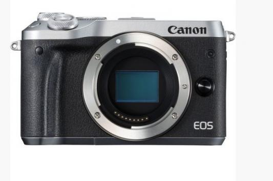 Фотоаппарат Canon EOS M6 24.2Mpix 3 1080p WiFi LP-E17 черный/серебристый 1725C002
