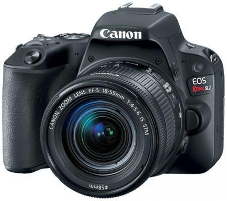 Зеркальная фотокамера Canon EOS 200D EF-S 18-55mm 24Mp черный 2250C011 canon eos 50d kit ef s 18 200