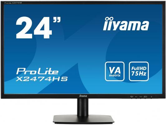 Монитор 23.6 iiYama X2474HS-B1 монитор iiyama xub3490wqsu b1 черный