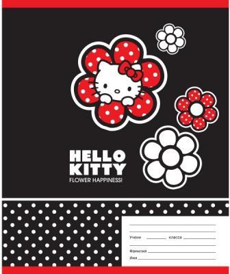 Тетрадь школьная Action! Hello Kitty 18 листов линейка скрепка HKO-AN-1801/1