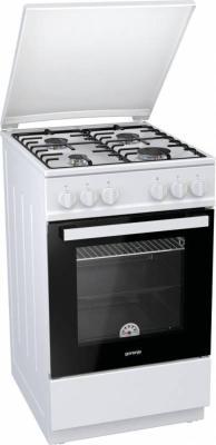 Газовая плита Gorenje GN5111WH-B белый газовая плита gorenje gi5322wf b газовая духовка белый