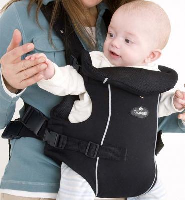 Рюкзак-переноска для детей Clippasafe Carramio (черный) clippasafe clippasafe ворота безопасности металлические