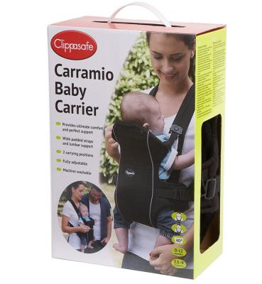Рюкзак-переноска для детей Clippasafe Carramio (черный)