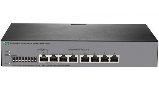 Коммутатор HP 1920S управляемый 8 портов 10/100/1000Mbps JL380A коммутатор hp 1920s jl385a jl385a