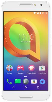 Смартфон Alcatel A3 5046D белый 5 16 Гб LTE Wi-Fi GPS 3G смартфон alcatel onetouch 7070 pop 4 6 золотистый 6 16 гб wi fi gps 3g lte