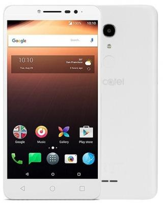 Смартфон Alcatel A3 XL 9008D 8 Гб белый (9008D-2BALRU1) смартфон alcatel a3 xl 9008d sideral gray silver mediatek mt8735b 1 гб 8 гб 6 1280x720 dualsim 3g 4g 8mpix 5mpix bt android 7 0