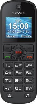TEXET TM-B320 мобильный телефон цвет черный мобильный телефон texet tm 504r черный зеленый