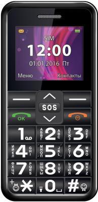 Мобильный телефон Texet TM-101 черный мобильный телефон защищенный texet tm 518r