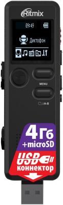 Цифровой диктофон Ritmix RR-610 4Гб черный