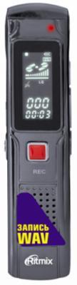 Цифровой диктофон Ritmix RR-110 4Гб черный ritmix rf 2500 4gb silver mp3 плеер