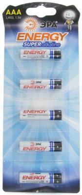 Батарейки Эра Strip LR03-5BL LR03 5 шт