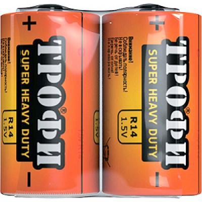 Батарейки ТРОФИ Классика R14-2S 24/600/9600 R14 2 шт