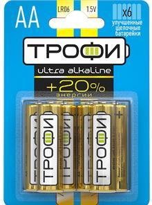 Батарейки ТРОФИ Ultra LR6-6BL LR6 6 шт