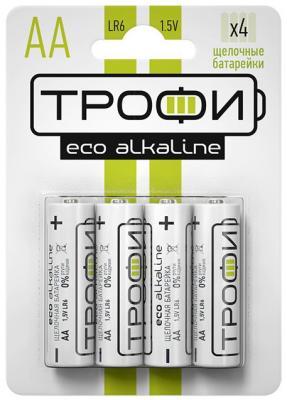 Батарейки ТРОФИ Eco LR6-4BL LR6 4 шт 40/720/17280