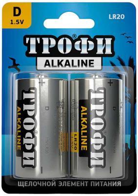 Батарейки ТРОФИ LR20-2BL LR20 2 шт 12/96/3168