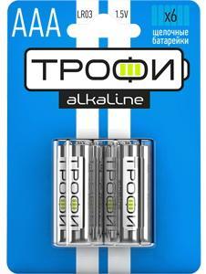 Батарейки ТРОФИ LR03-6BL LR03 2 шт