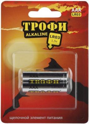 Батарейки ТРОФИ LR03-2BL LR03 2 шт 20/480/17280