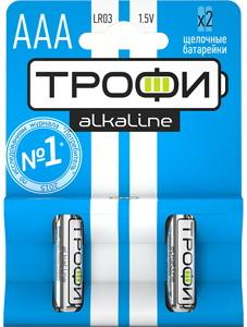 Батарейки ТРОФИ LR03-2BL LR03 2 шт 40/480/23040