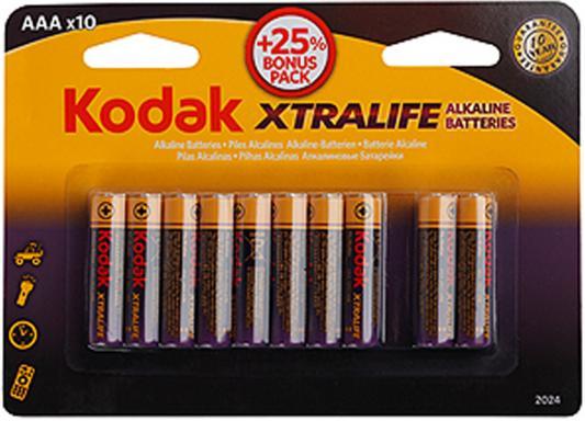 Батарейки KODAK Xtralife LR03-8+2BL LR03 10 шт цена и фото