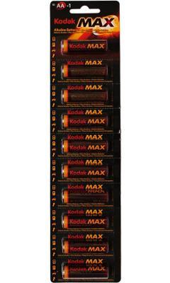 Батарейки KODAK Max LR6-10BL KAA-10/KAA-1 100/1000/20000 LR6 10 шт батарейки kodak max lr6 12bl kaa 12 120 720 17280 lr6 12 шт