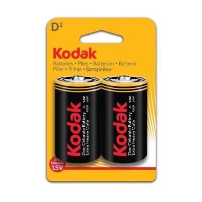 Батарейки KODAK Extra Heavy Duty R20-2BL/(R20P) KDHZ-2 24/120/5040 D 2 шт