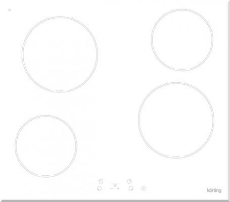 Варочная панель электрическая Korting HK 60001 BW белый варочная панель электрическая korting hk 42031 bw белый