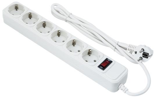 Сетевой фильтр Exegate SP-6-3W белый 6 розеток 3 м
