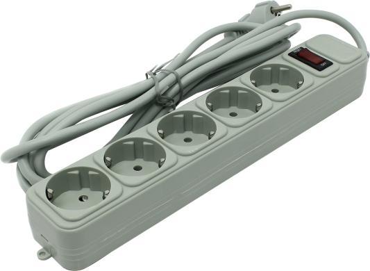Сетевой фильтр Exegate SP-5-3G серый 5 розеток 3 м EX221186RUS